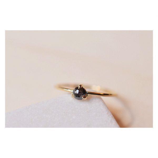 solitaire diamant noir rosecut