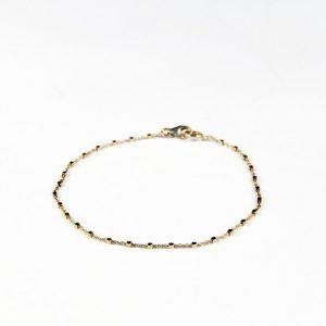 bracelet fin chaine cubes