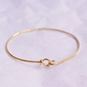 bracelet jonc fin ciselé bijoux lyon