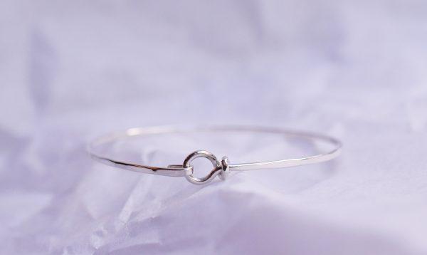 bracelet jonc martelé bijoux lyon