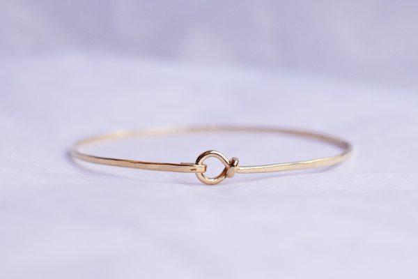 bracelet jonc doré bijoux lyon