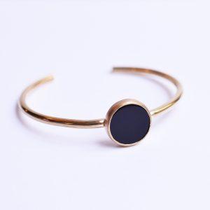 bracelet jonc onyx bijoux lyon