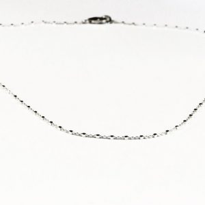 collier chaine cube argent