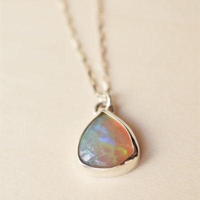 collier opale argent bijoux sur mesure