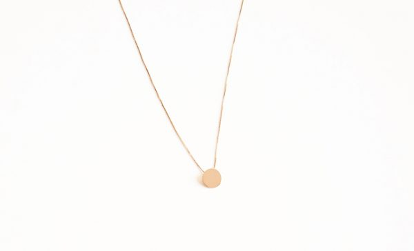 collier sequin rond