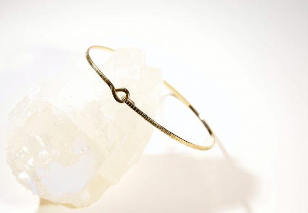 bracelet jonc ciselé vermeil