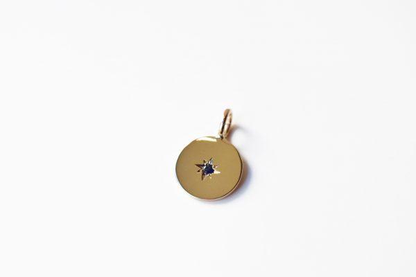 médaille naissance or saphir