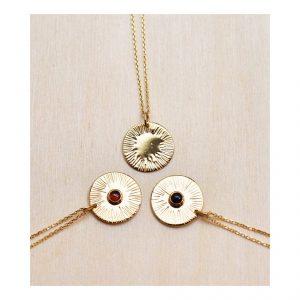 médaille soleil vermeil bijoux lyon