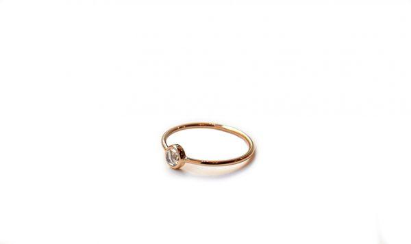 solitaire diamant taille rose fiançailles bague