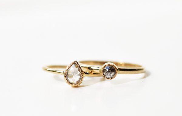 bague solitaire diamant mille grain