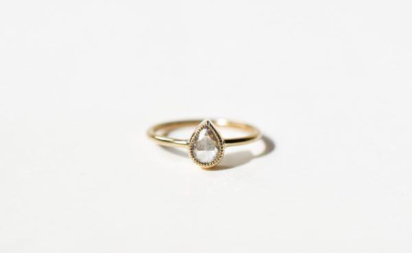 bague diamant poire fiançailles lyon