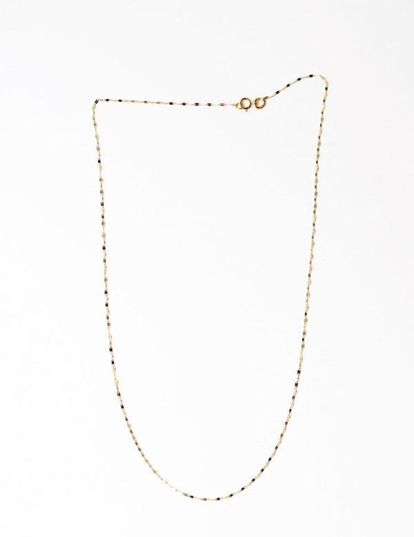 collier chaine fine paillettes or