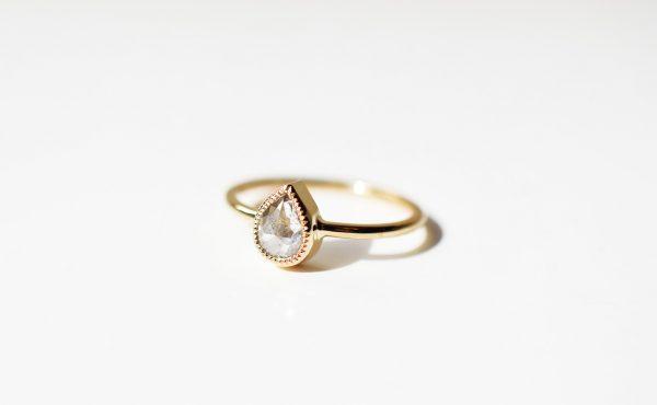 bague de fiançailles lyon faite main diamant unique