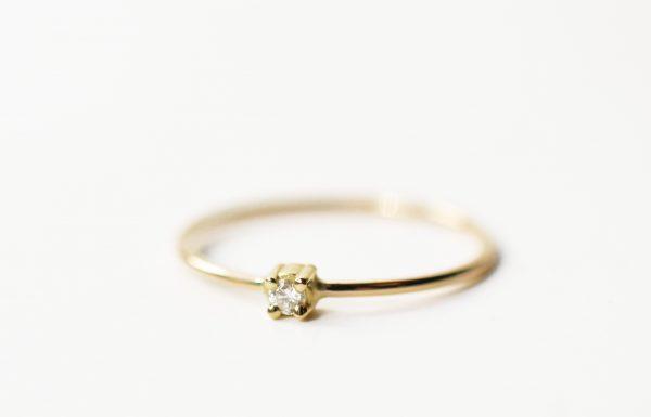 solitaire bague fine diamant