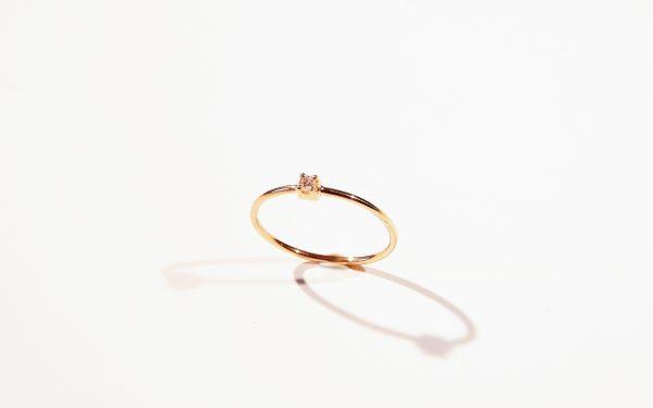 mini solitaire bague fiancaille fine or lyon diamant