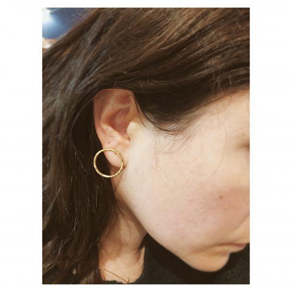 boucles d'oreilles bulles rondes vermeil