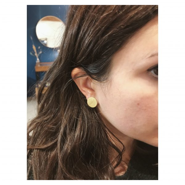 boucles d'oreilles rondes lyon brossées