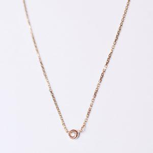 collier diamant fin petit millegrain