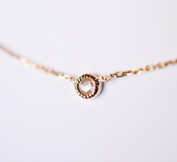 collier diamant taille rose millegrain lyon bijoux créateur