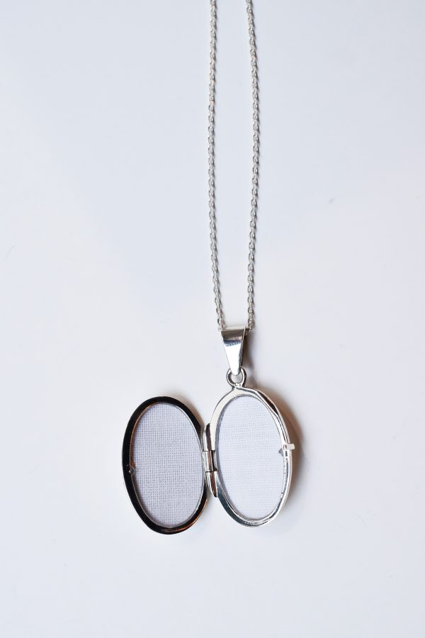 medaillon photo oval argent