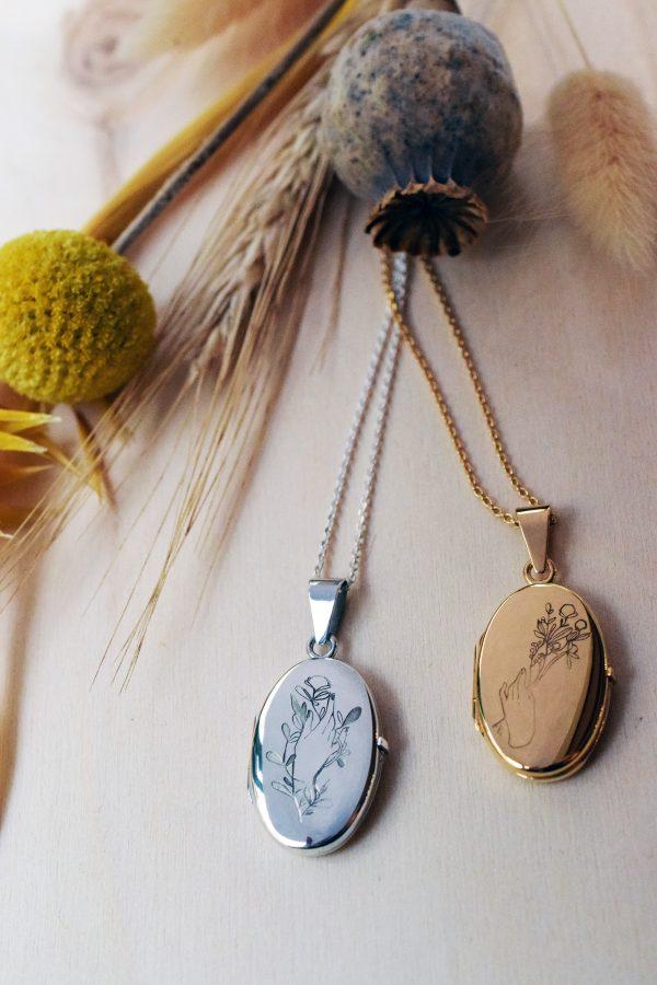medaillon photo argent vermeil collier lyon