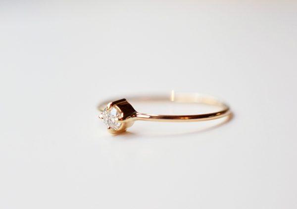 solitaire diamant 3mm