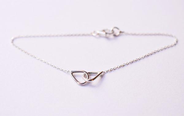 bracelet coeur entrelacés bijoux argent lyon