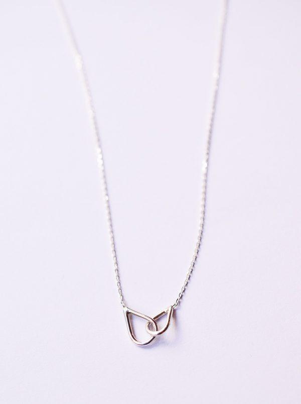 collier argent fin entrelacé bijoux lyon
