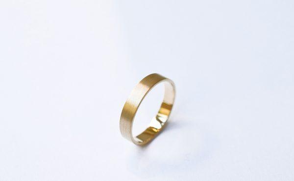 alliance brossée homme 4mm bijoux créateur lyon