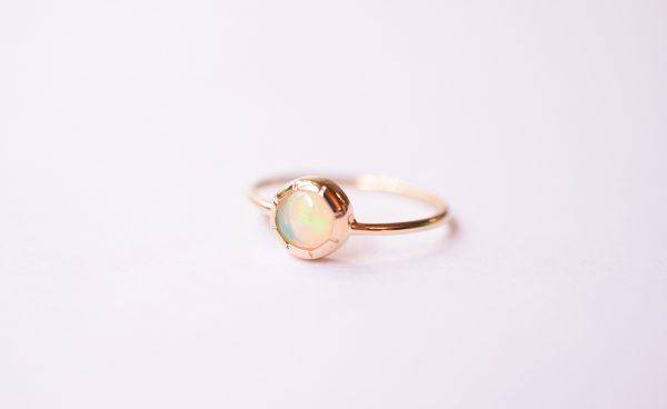 bague opale or jaune fine bijoux créateur lyon