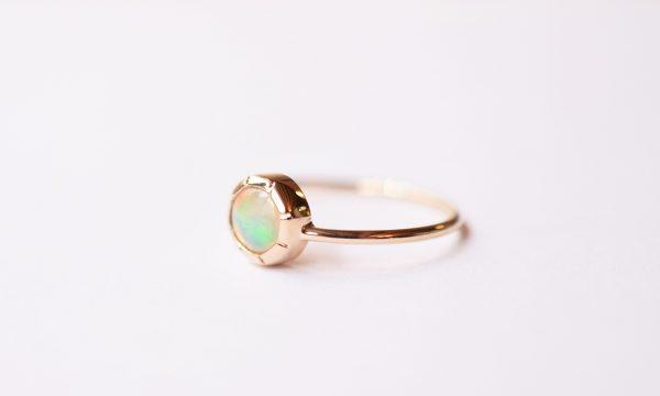 bague fine or opale unique bijoux lyon