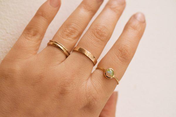 bague fine or opale bijoux lyon fiançailles