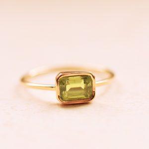 bague péridot or fine bijoux lyon