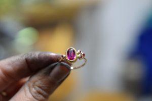 bague rubis bijoux sur mesure lyon