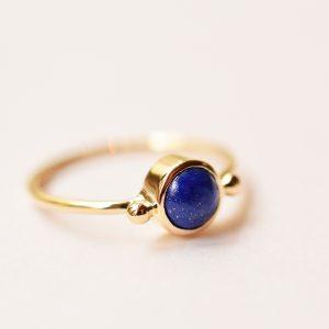 bague lapis lazuli bleue or fine bijoux lyon
