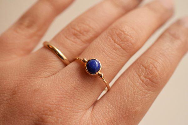 bague lapis lazuli or fine bijoux createur lyon