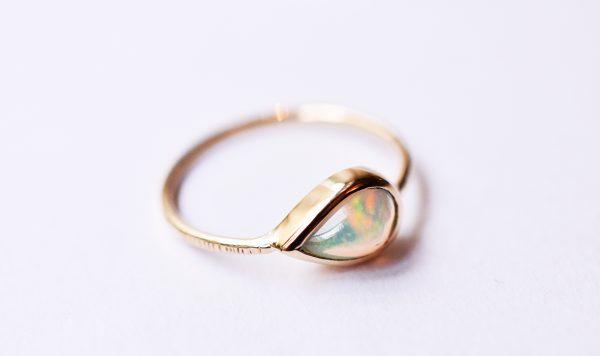 bague opale or fine bijoux lyon créatrice
