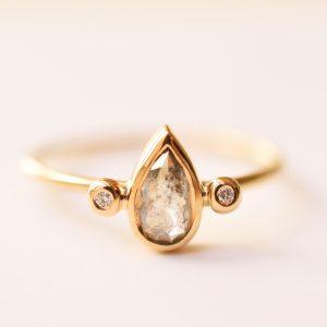 bague diamant poivre et sel bijoux lyon