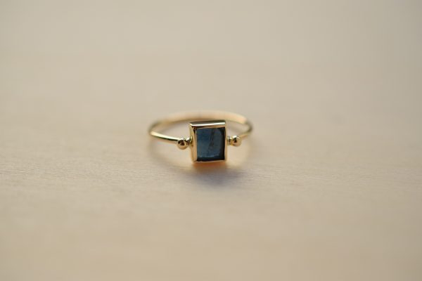 bague tourmaline bleu bijoux sur mesure lyon