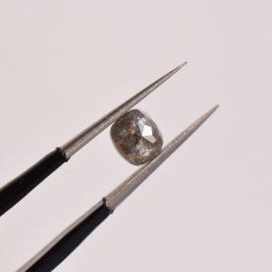 diamant poivre et sel gris bague sur mesure