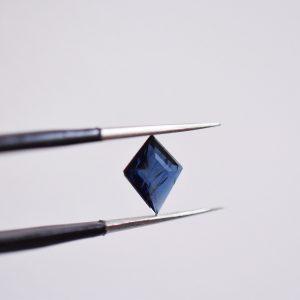 saphir géométrique losange commande sur mesure bijoux lyon