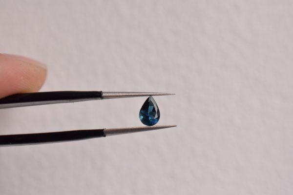 Tourmaline bleue goutte bijoux
