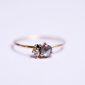 bague diamant noir bijoux créateur lyon