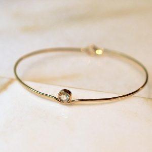 Bracelet martelé diamant bijoux lyon
