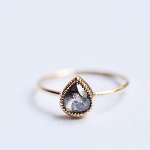 bague diamant poivre et sel