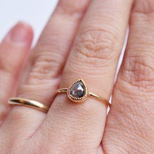 bague diamant poivre et sel millegrain bijoux lyon