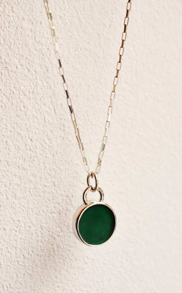 collier pierre verte lyon