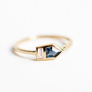 bague saphir et diamant bijoux lyon fiançailles