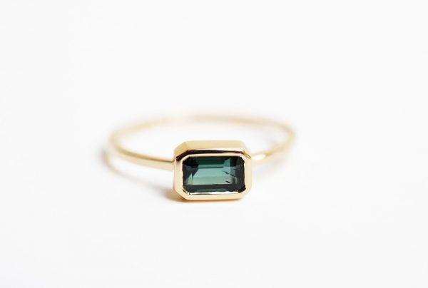bague or tourmaline verte bijoux lyon