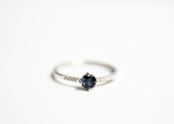 bague saphir diamants solitaire bijoux lyon